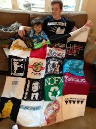 T-shirt Rag Quilt Tutorial | Quilting in the Rain & This is after he opened it on Christmas morning! Adamdwight.com