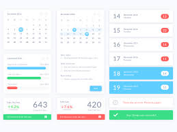 Calendar Sample Design Unique Calendar UI Elements Sketch Freebie Download Free Resource For