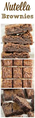 Nutella Topped Brownies Best 25 Nutella Recipes Ideas On Pinterest Nutella Cookie