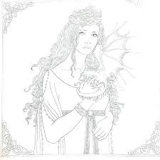 Dragon Tales Coloring Book 2 Cover Goth Fairy Coloring Pages For