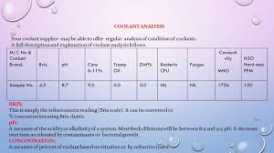 Machine Coolant Concentration Chart Machine Coolant Management Trouble Shooting Presented By