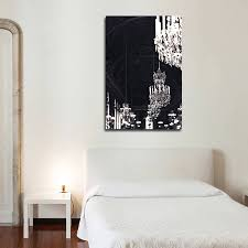 simple bedroom style ideas with original paris black gold throughout newest chandelier canvas wall art