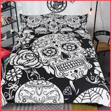 3d black white skull bedding sets plaid duvet skull bedding sets king skull bedding asda