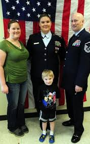 my hero my dad jrotc grad wins national essay contest > joint  master sgt john franke and his wife stephanie stand their young son and
