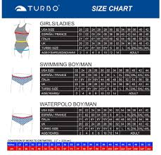 Turbo Size Chart 40 Perspicuous Turbo Swimsuit Size Chart
