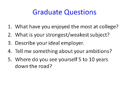 Interview Questions For New Graduates English Job Interview Questions Ppt Video Online Download
