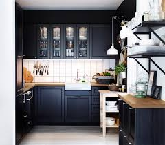 black painted kitchen cabinets ideas. Plain Black Wonderful Small Kitchen Remodel Ideas With Black Painted Maple Wood Island  And Wooden Countertop Inside Cabinets