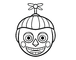Five Nights At Freddys Coloring Pages Golden Balloon Boy From Page