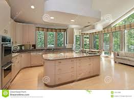Large Kitchen Large Kitchen With Center Island Stock Photography Image 19321982
