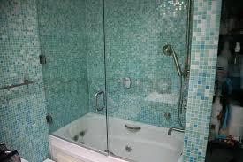 tub frameless steam shower swing door with side panel