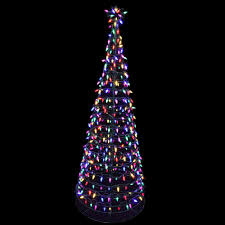 exterior christmas decorations lights. pre-lit led tree sculpture with star - multi-colored lights exterior christmas decorations