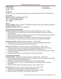 Psychologist Resume Sample Job Resume School Psychologist Resume
