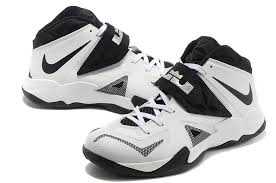 lebron white shoes. lebron nike zoom soldier vii(7) white black-metallic silver for sale- shoes