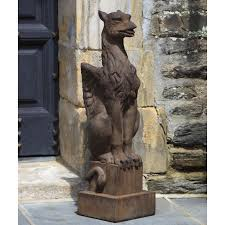 campania international gryphon cast stone garden statue campania international gargoyles griffins garden statues on
