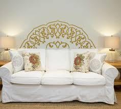 mandala in half wall sticker bedroom