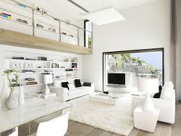 Impressive Beautiful Interior Design Houses Pure White Interior Design
