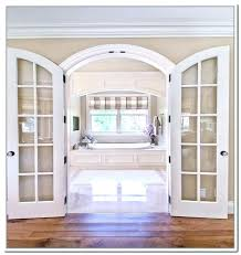 arched glass doors custom interior with french t arched top interior door