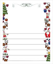 Christmas Note Template Christmas Note Paper Template Christmas Letter Template
