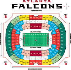 Atlanta Falcons Seating Chart With Rows Map Of Georgia Dome Seating Map Novagroningen