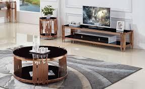 china modern black glass table metal