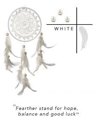 Dream Catcher Phrases Inspiration Roohworld White Crochet Dreamcatcher Best Online Brand Store For