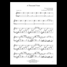 A Thousand Years Sheet Music A Thousand Years Sheet Music