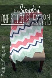 Chevron Crochet Blanket Pattern Gorgeous Ansley Designs EASY Beginner Chevron Crochet Baby Blanket Only ONE