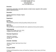 Examples Of Resumes For Highschool Students With No Work Experience Phenomenal Examples Of Resumes With Little Work Experience Samples 17