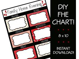 Family Home Evening Chart Ideas Family Home Evening Assignment Chart