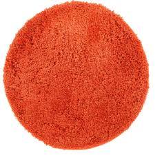 rug culture texture orange round rug 150x150cm