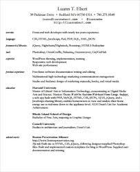 Senior Front End Developer Resume