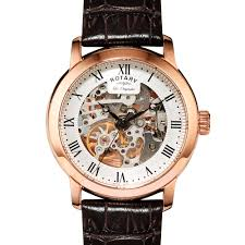 skeleton watches rotary watches rotary mens rose gold skeleton watch