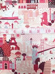 Anime Japanese Kawaii Deco Cute Cartoon World Travel Girl Pink ... & Anime Japanese Kawaii Deco Cute Cartoon World Travel Girl Pink Print Cotton Fabric  Quilt Fabric CR519 Adamdwight.com