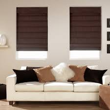 Full Size Of Furniture Decorating Ideas Inspiring Living Room Decoration  With Brown Cotton Insulated Roman Blinds ...