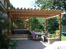 12x12 pergola plans best construction design oak polished finish wooden posts crossbeams rafters roof shade battens terrace patio decoration