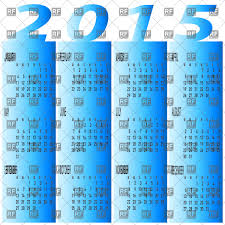 Layouts Blue Blue Calendar Year 2015 Stock Vector Image