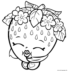 Fruit Coloring Pages Strawberry Page Sheet Kids Best Free Coloring