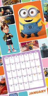Despicable Me Official 2019 Calendar Square Wall Calendar Format