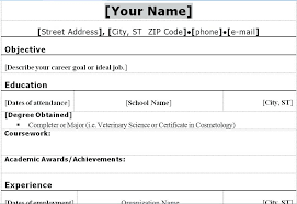 Example Of Resume Form Sample Of Simple Resume Format Awesome ...