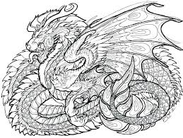 Free Dragon Coloring Pages Detailed Adult