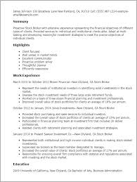 Resume Templates: Stock Broker