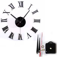 Small Picture Retro New Designer Vintage Numbers 3D Large Wall Clock 50cm Metal