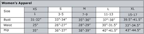 Drjays Com Customer Service Womens Size Chart