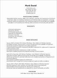 Machine Operator Resume 40 Machine Operator Job Description Samples Magnificent Resume For Machine Operator