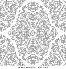 Silver Pattern Interesting Seamless Classic Vector Light Silver Pattern Stock Vector Royalty