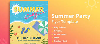 20 Best Summer Party Flyers For Advertising