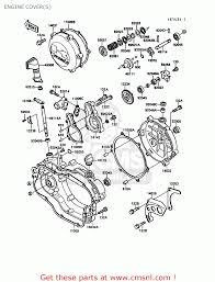 kawasaki kx g europe uk al engine cover s schematic engine cover s schematic