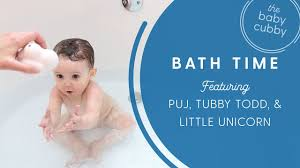 Bath time with Puj, Tubby Todd, Little Unicorn & Toys - YouTube