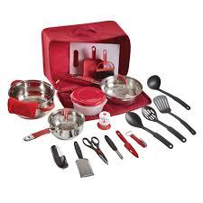 Camp Kitchen Camp Kitchen Set 20 Piece Red