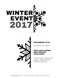 christmas event flyer template black and white christmas event flyer template christmas poster